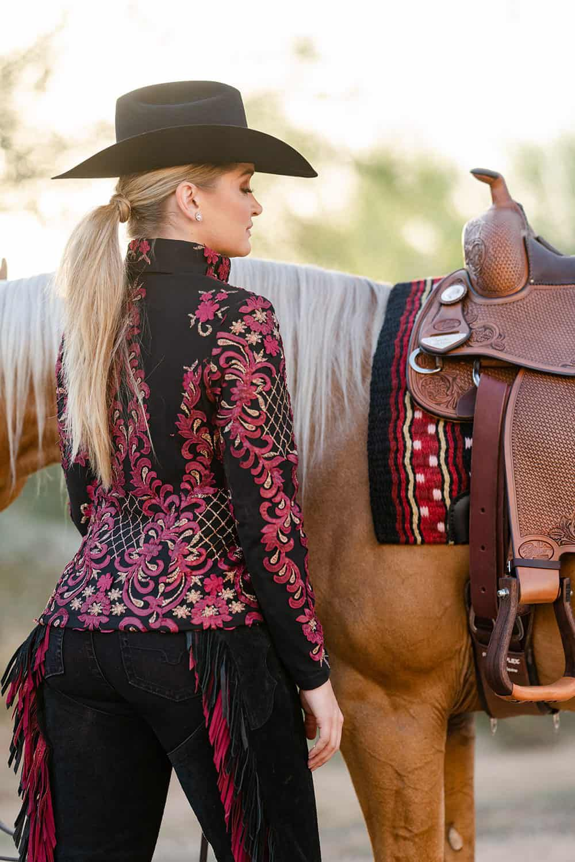 zip-in fringe chaps cowgirl magazine