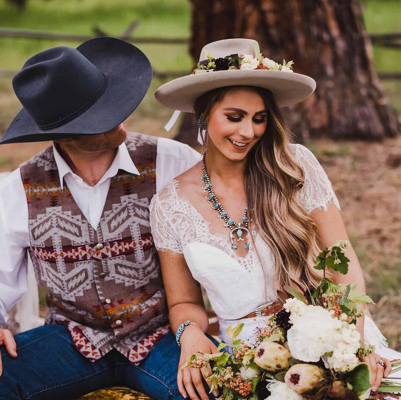 faux-wedding shoot cowgirl magazine