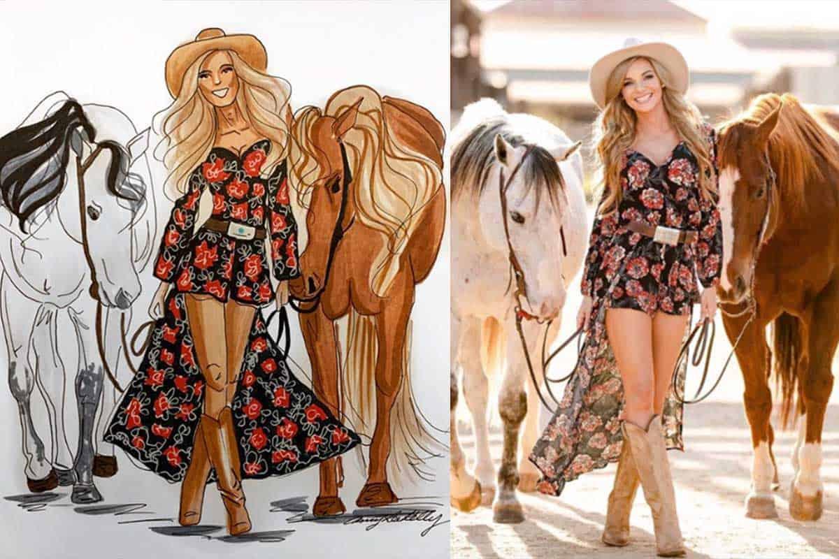 Amy lee Kelly cowgirl magazine art