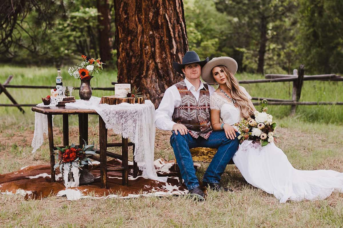 faux-wedding shoot cowgirl magazine