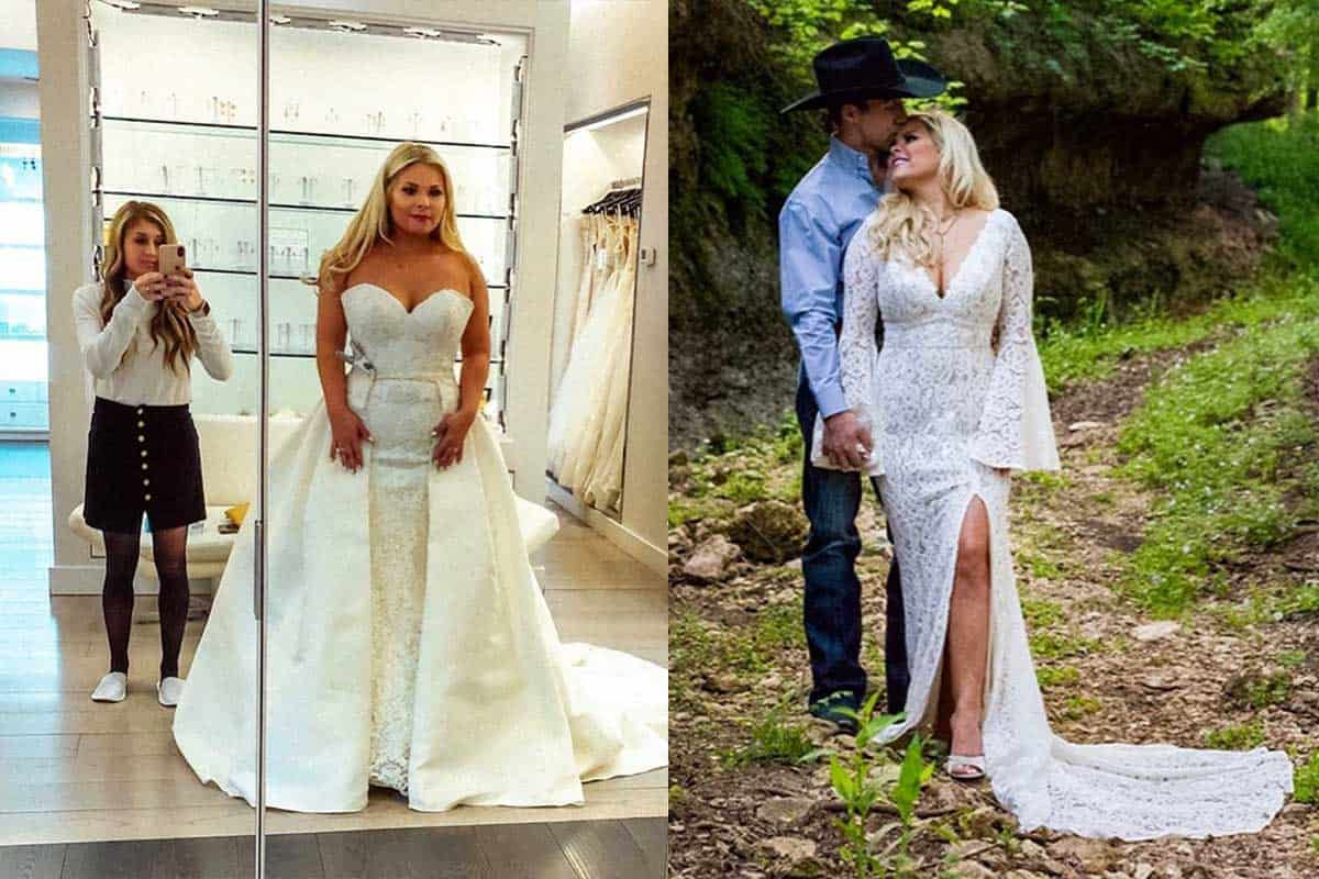 Alexis Bloomer wedding dress cowgirl magazine