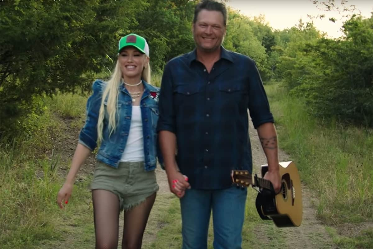 happy anywhere blake shelton gwen stefani cowgirl magazine