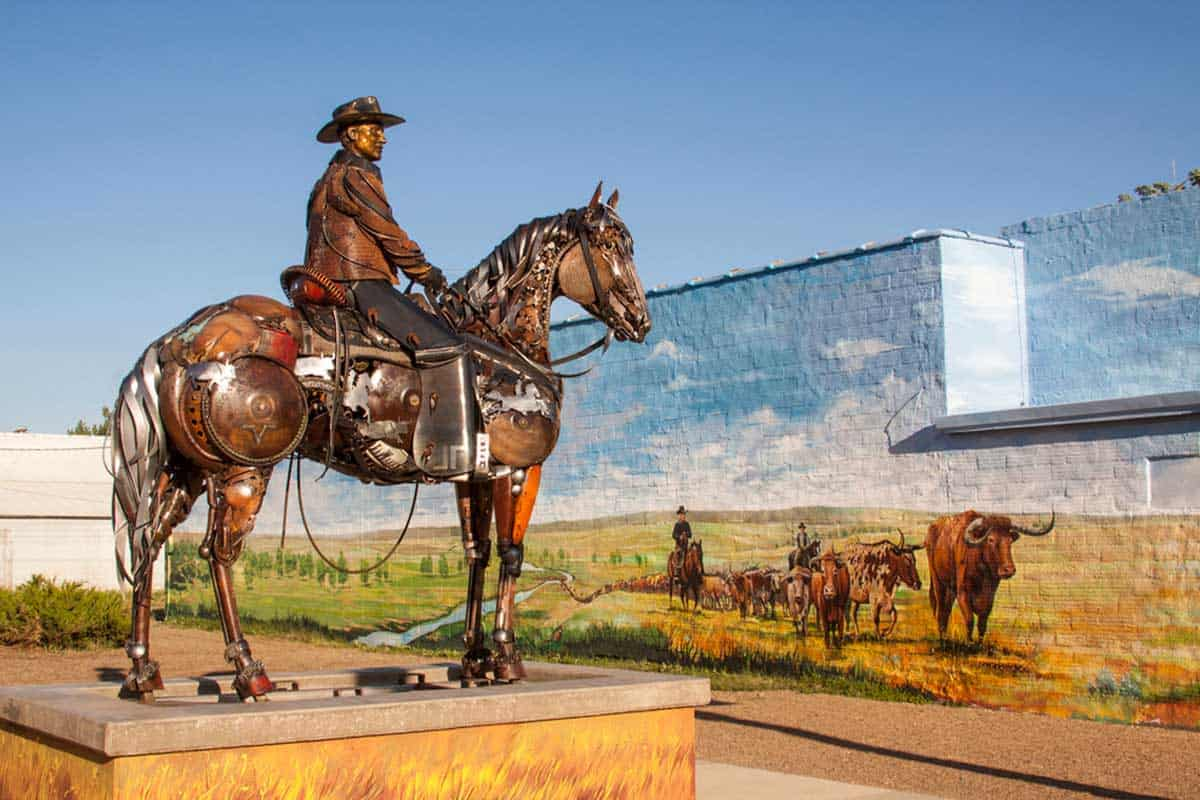 John Lopez sculptor cowgirl magazine
