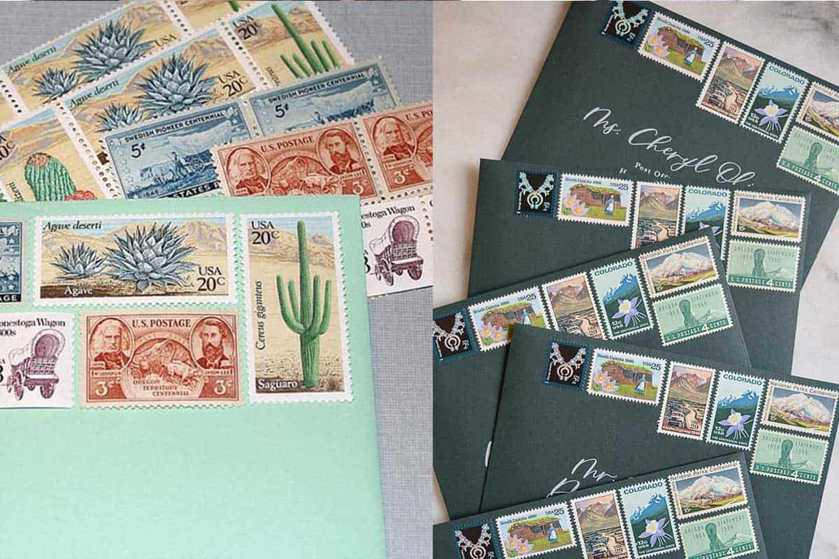 mailing stamps stamp wedding invitations invitation cowgirl magazine