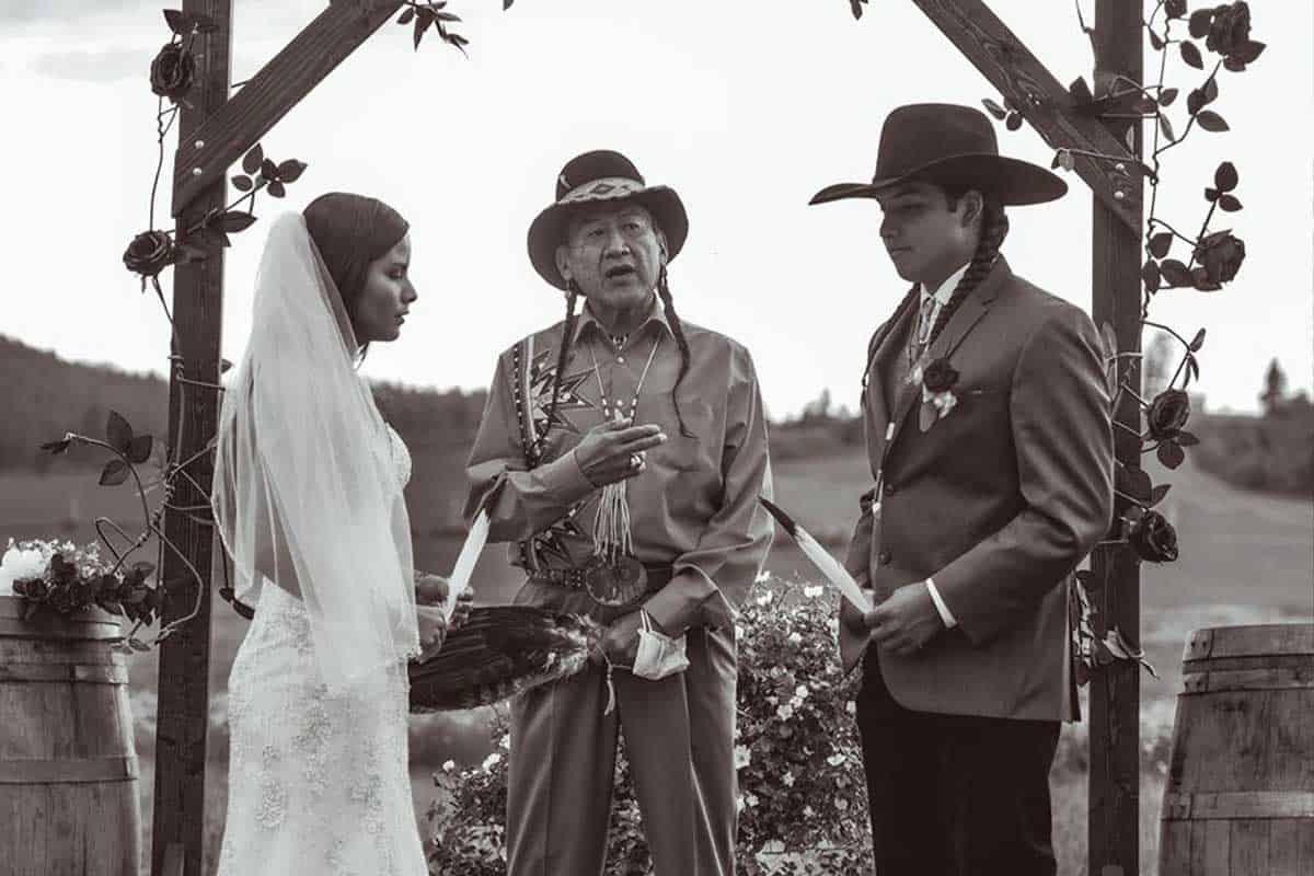 Native American wedding native wedding cowgirl magazine