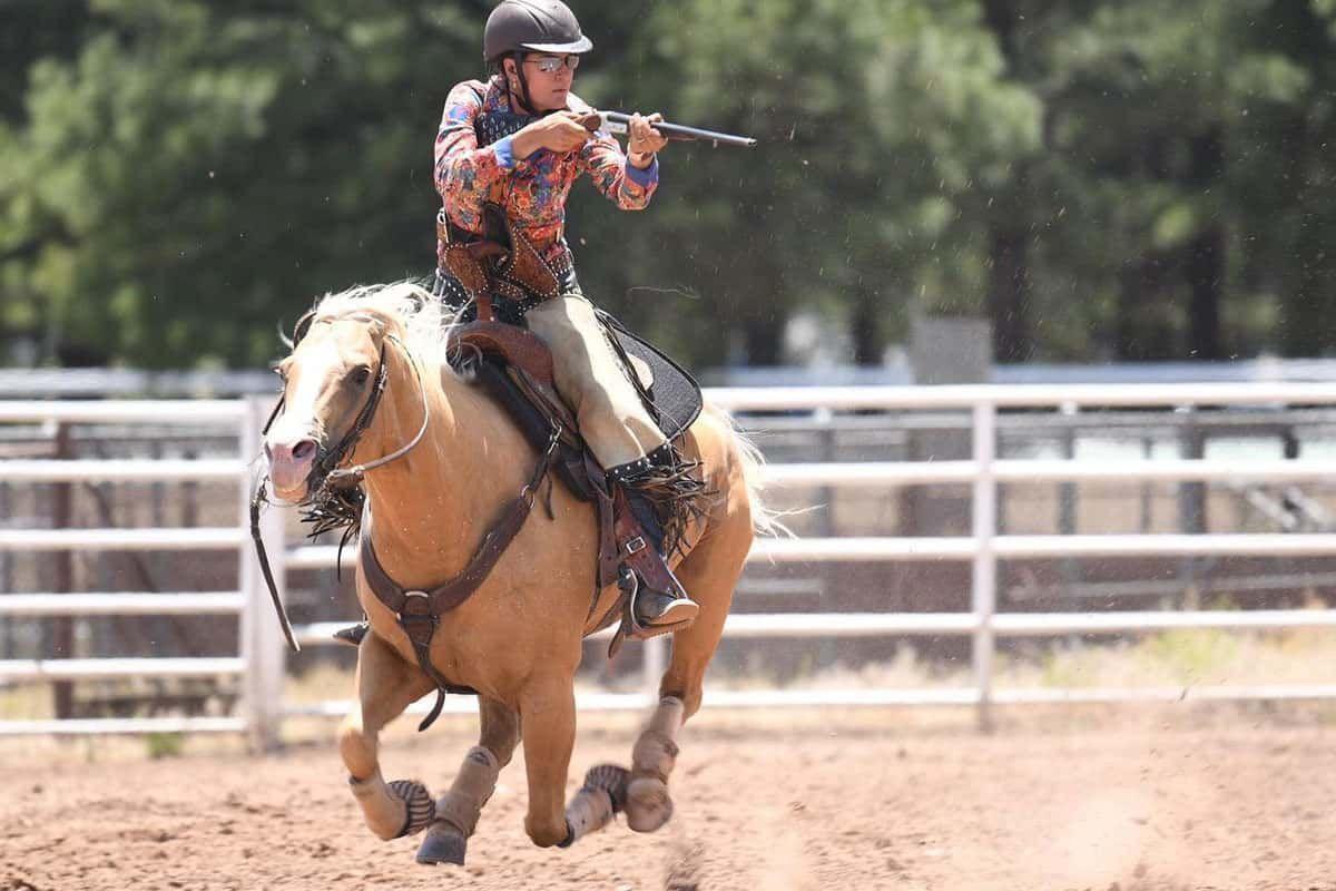 rusty brown jewelry mounted shooting cowgirl magazine