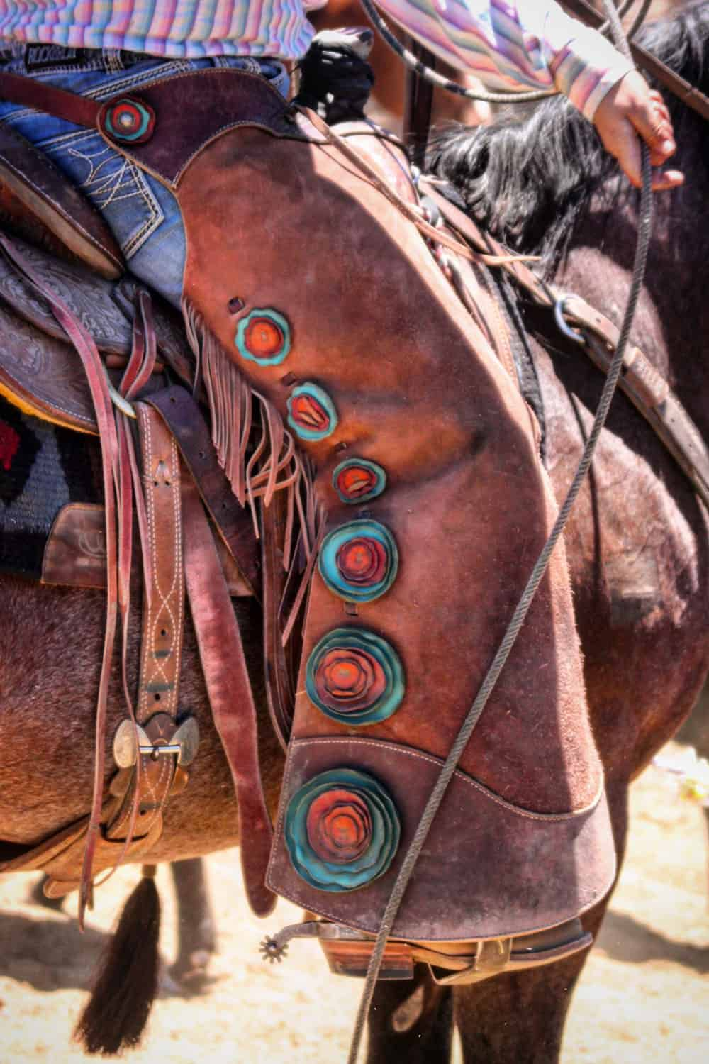 cowgirl in leather chaps cowgirl magazine