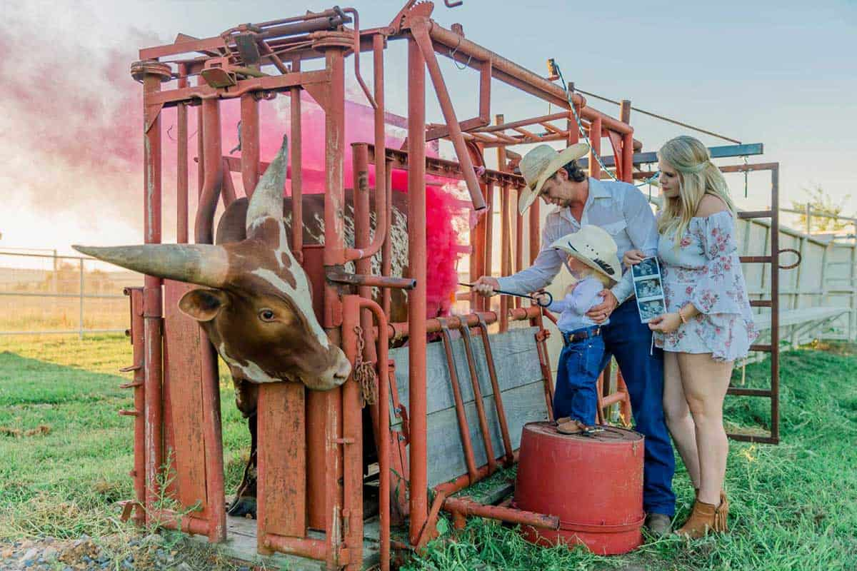 gender reveal chute out Watusi cowgirl magazine