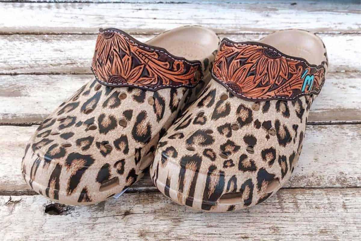 tooled crocs tooled leopard crocs cowgirl magazine