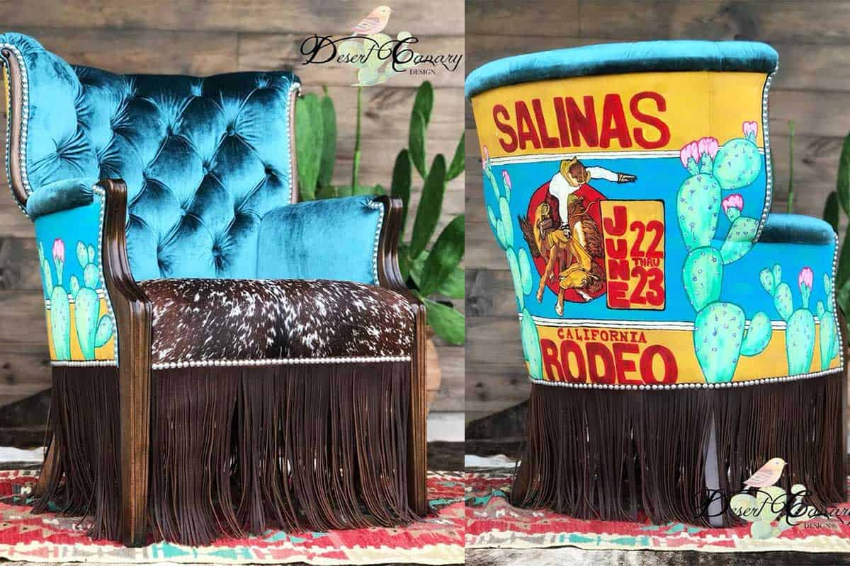 rodeo Salinas chair desert canary design carly Melancon cowgirl magazine