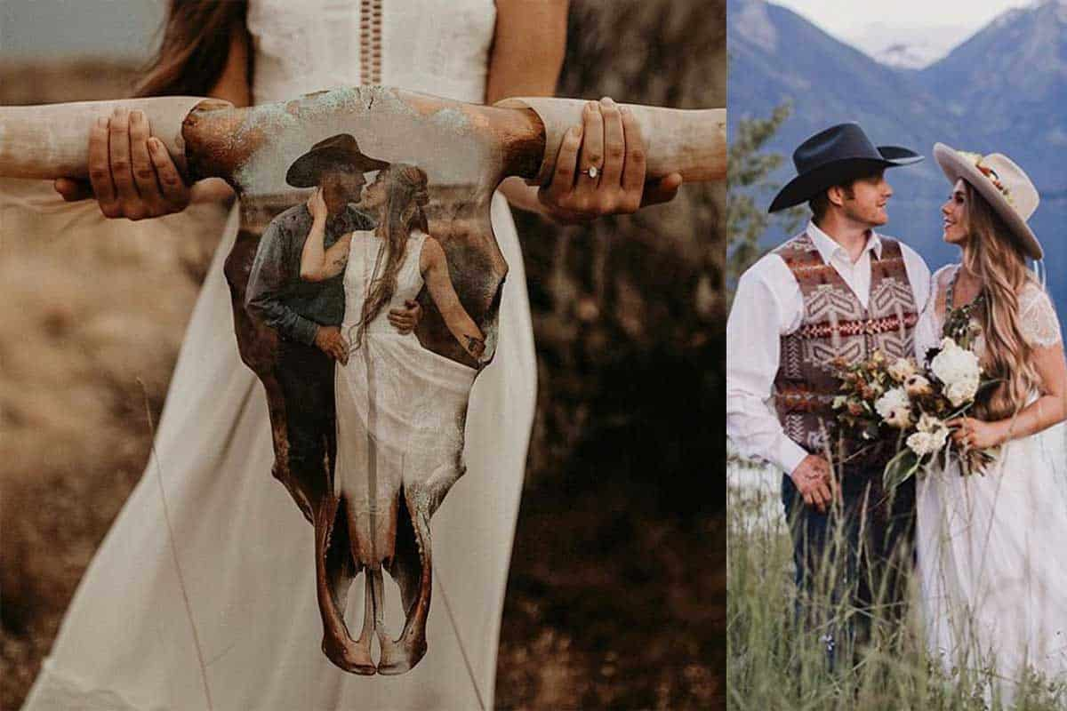 wedding cow skull cowgirl magazine