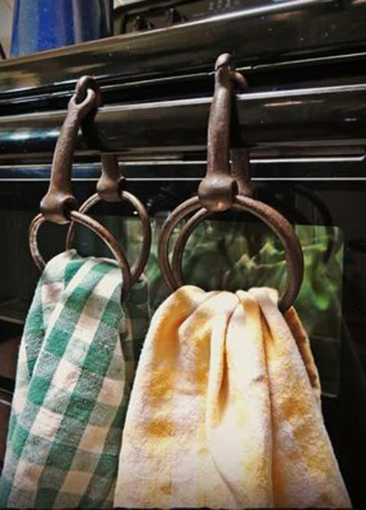 horse bit tea towel holder cowgirl magazine