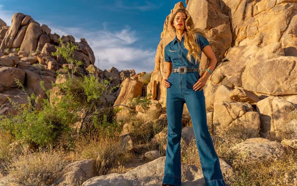 denim jumpsuit desert cowgirl magazine