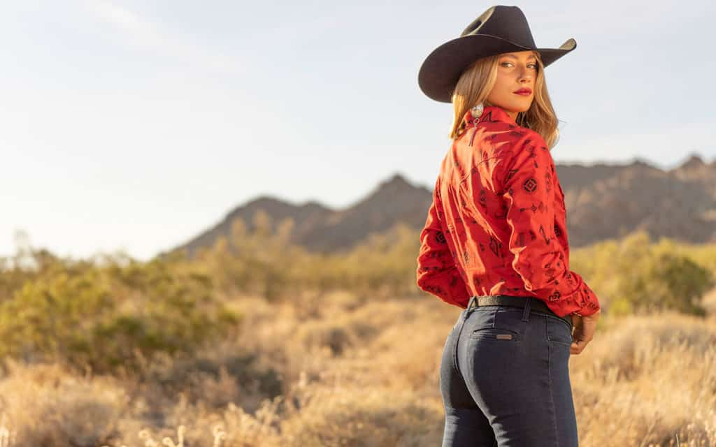 cowgirl in red shirt cowgirl magazine