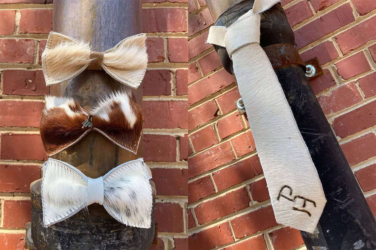 cowhide bow tie cowgirl magazine