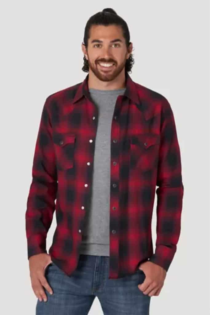 wrangler flannel shirt cowgirl magazine