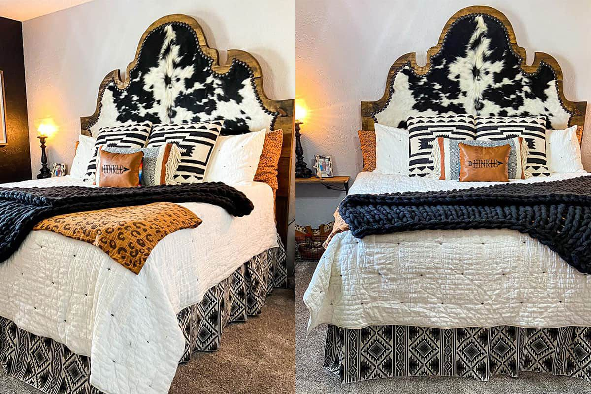 cowhide headboard cowgirl magazine red dirt revivals