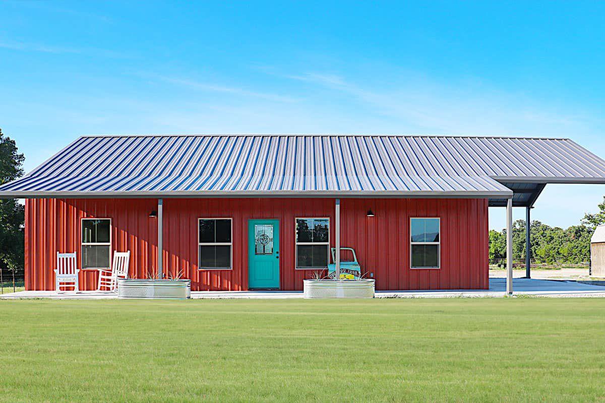 turquoise barndominium red barndominium turquoise and red cowgirl magazine