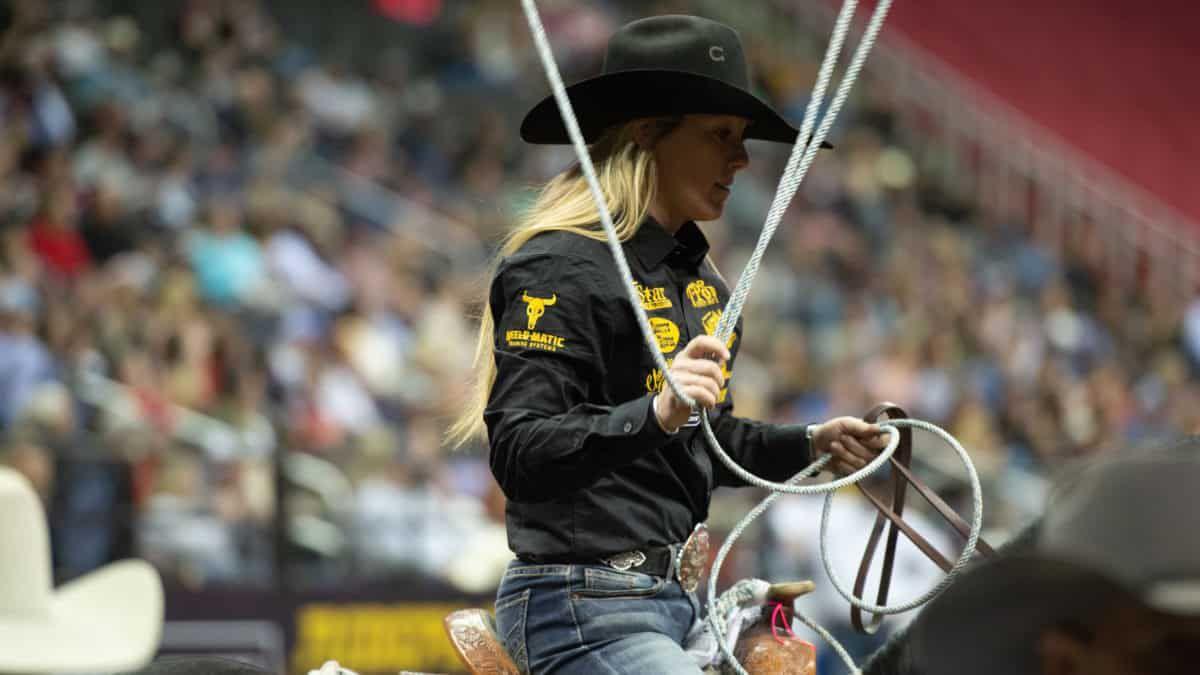 Womens Rodeo World Championship -WCRA- Hope Thompson - Breakaway - Arlington Texas - November -COWGIRL Magazine
