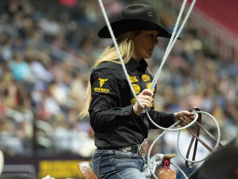 Womens Rodeo World Championship -WCRA- Hope Thompson - Breakaway - Arlington Texas - November -COWGIRL Magazine