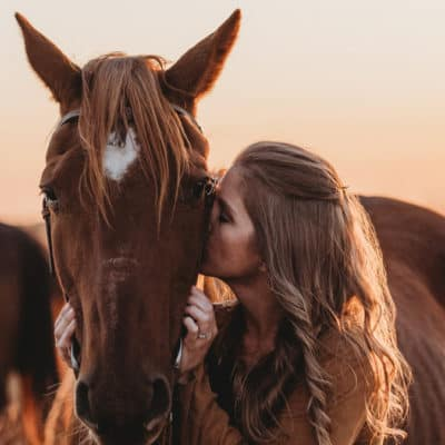 rescue horse goodbye photoshoot cowgirl magazine