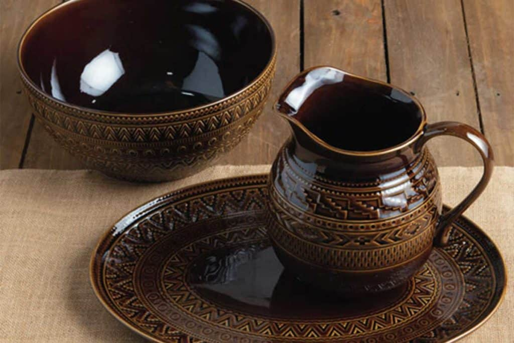 taste of the southwest turquoise brown rust dinnerware cowgirl magazine