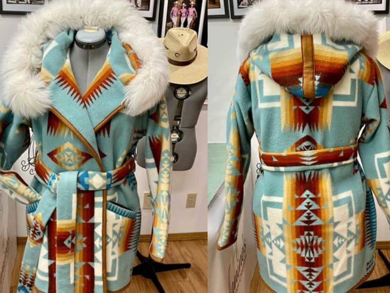 Custom Creations By Janine: A Timless Pendleton Fabric Coat Custom creations Janine custom pendleton jacket cowgirl magazine
