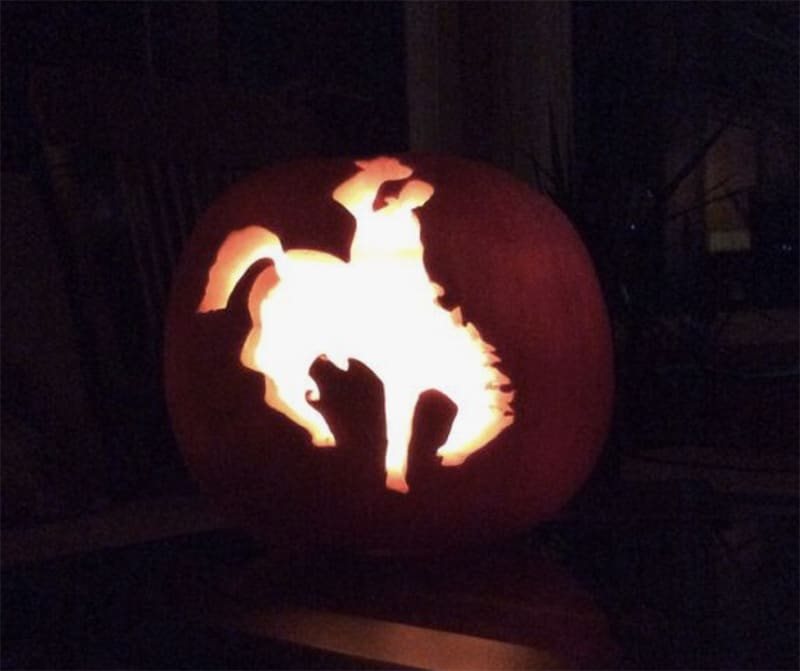 Pumpkin Carving - Happy Halloween - Cowgirl - Cowgirl Magazine - Cowgirl Halloween - Halloween - Let'er buck - buckin' - bucking horse -