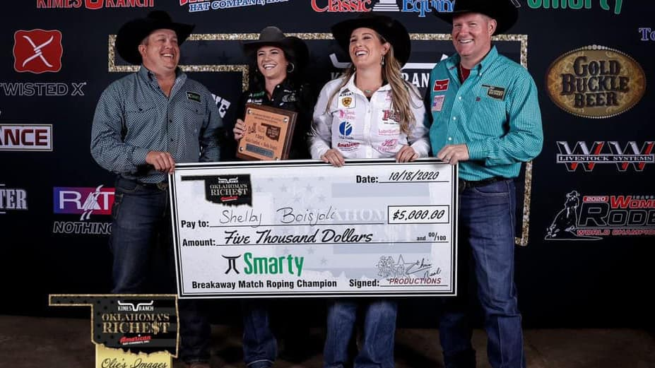 Oklahoma's Richest - Boisjoli vs Crawford - Breakaway Roping