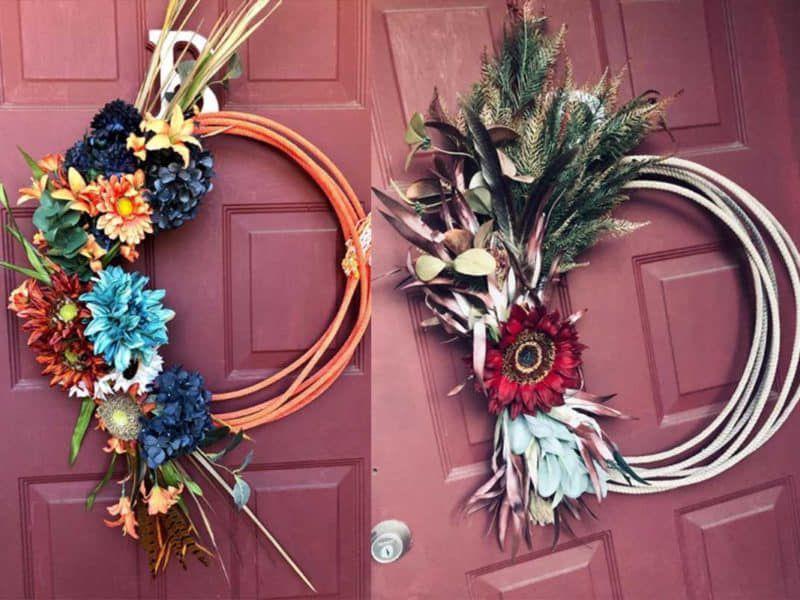 rope wreath Jameson rope co cowgirl magazine