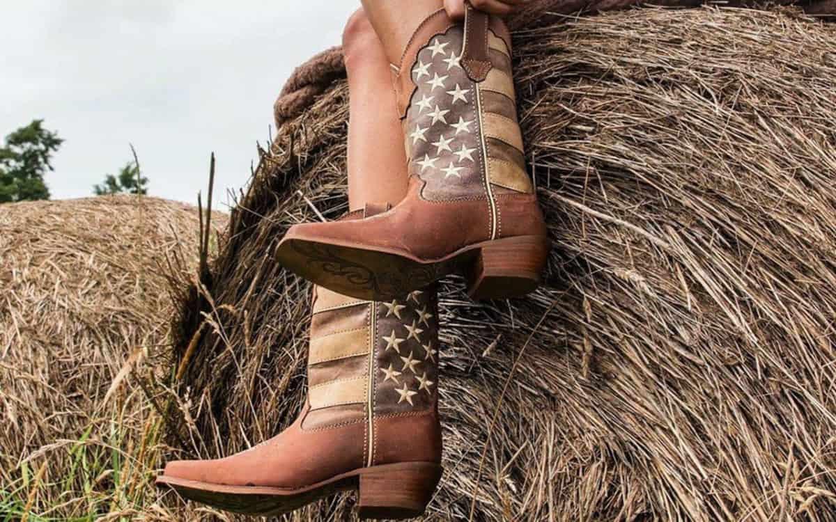 Durango Lil/' Rebel Kids Patriotic American Flag Western Cowboy Boots DBT0159