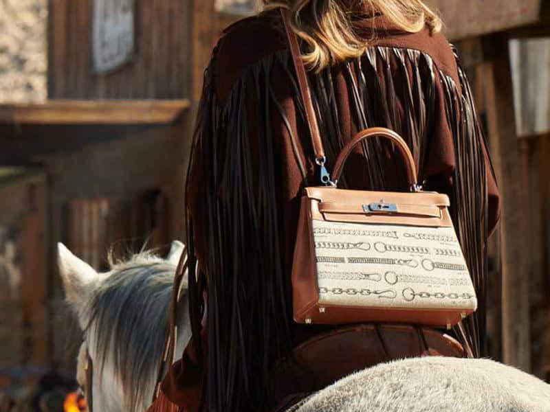 hermes kelly bag wild west ad cowgirl magazine