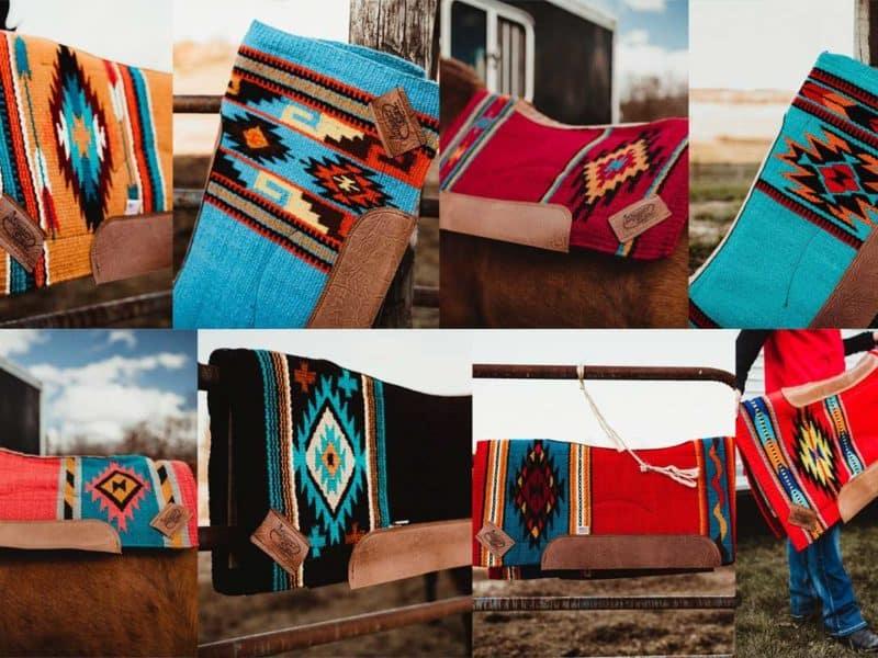 impact gel gone with the wind saddle pad saddle blanket cowgirl magazine