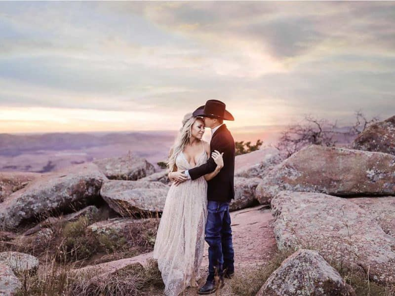 engagement session cowgirl magazine