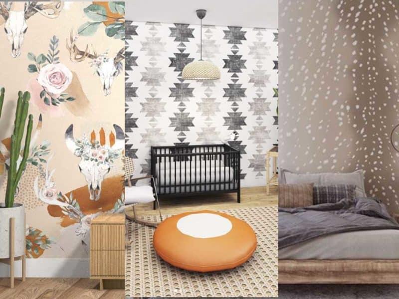 wall paper wallpaper wall blush cowgirl magazine home decor
