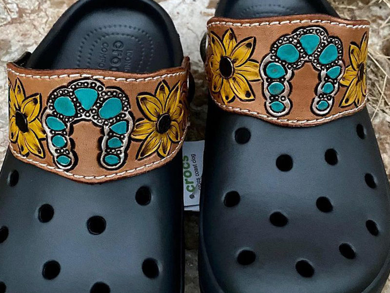tooled leather crocs cowgirl magazine