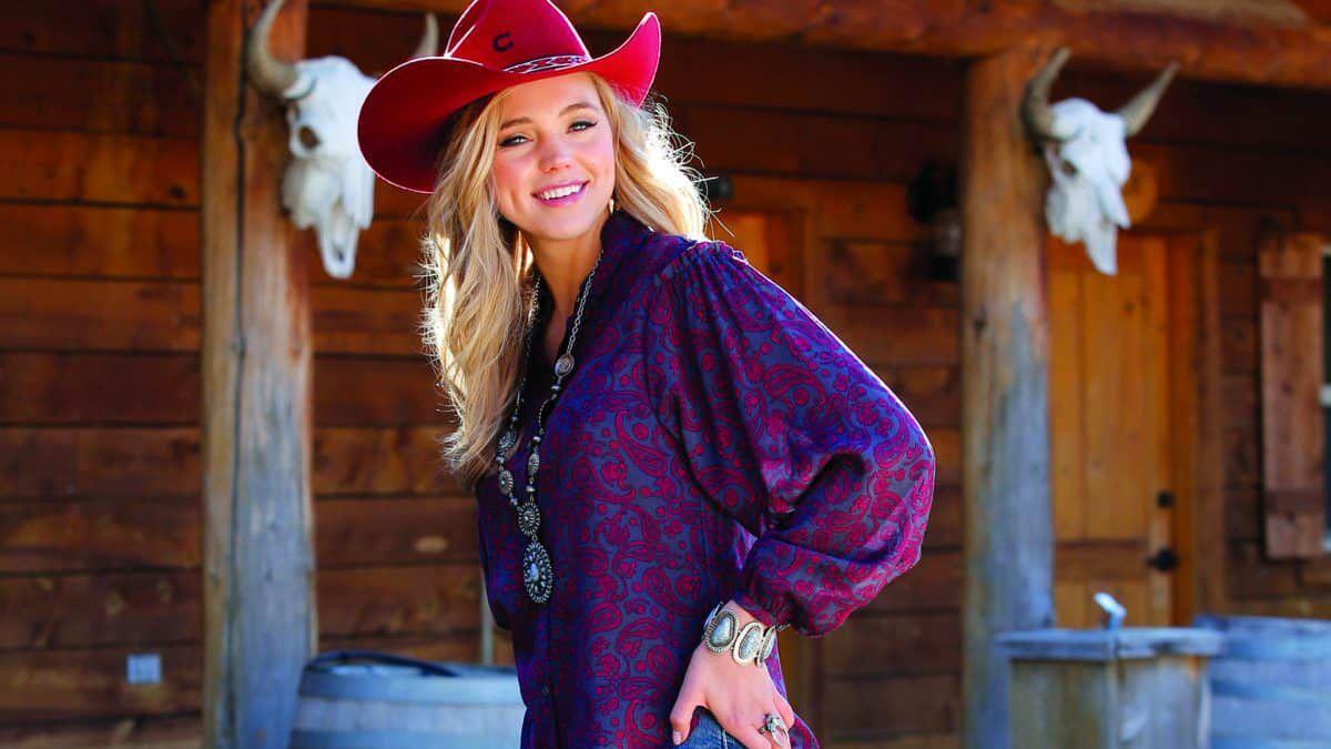 cruel girl denim paisley blouse cowgirl magazine