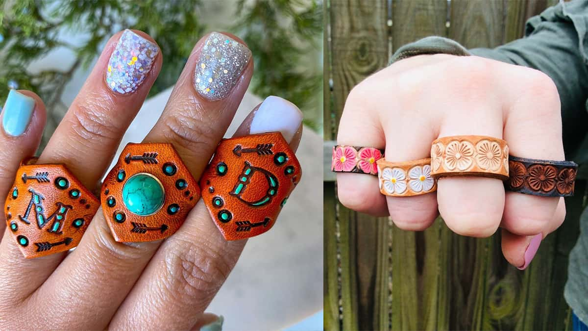 tooled leather rings cowgirl magazine