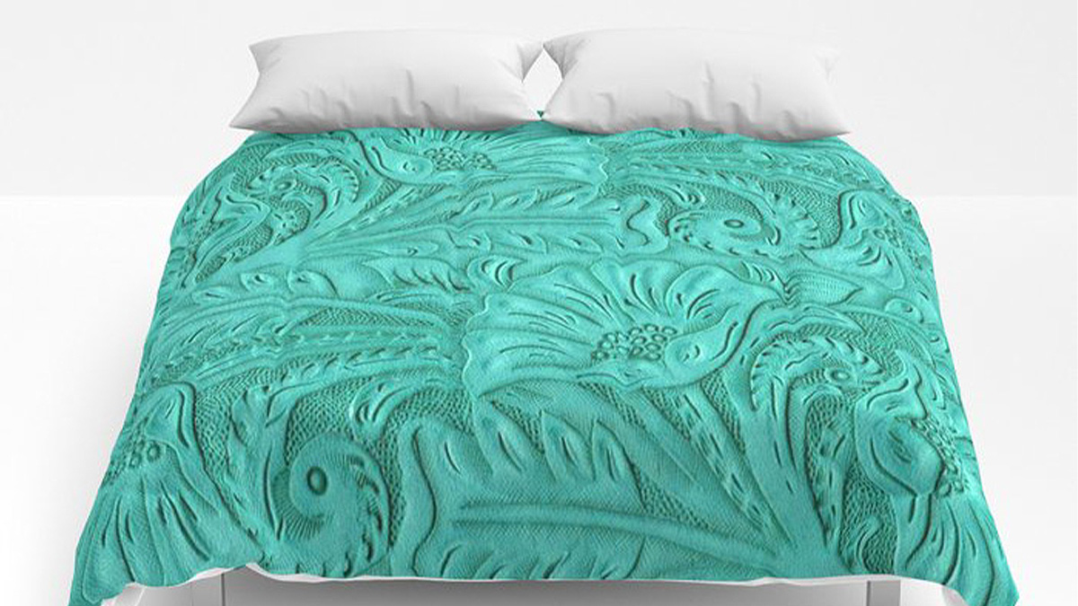 tooled leather comforter cowgirl magazine
