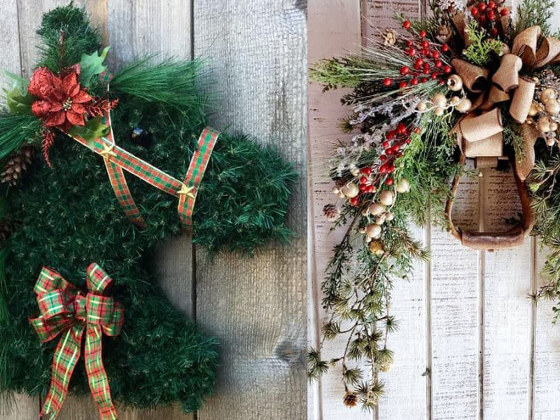 horse head wreath stirrup wreath cowgirl magazine