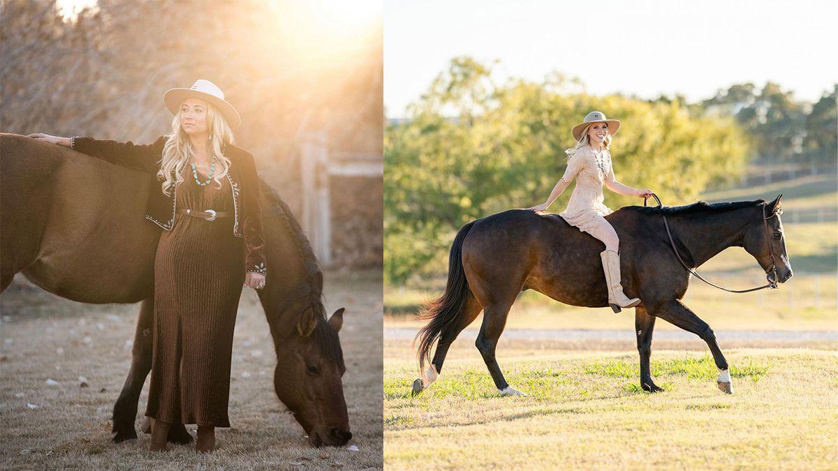horse photoshoot cowgirl magazine