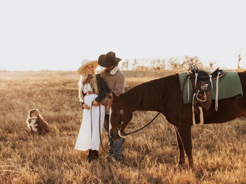 katy jade baby announcement cowgirl magazine
