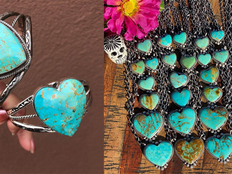 turquoise heart jewelry cowgirl magazine