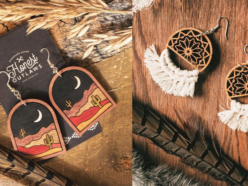 honest outlaws earrings cowgirl magazine
