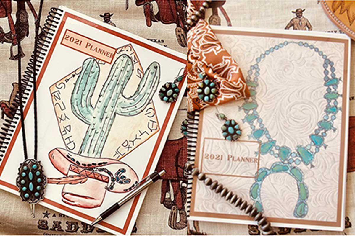 western monthly planner the saddle shoppe cowgirl magazine organized organization planner