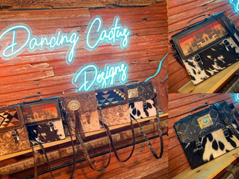 western briefcase dancing cactus designs cowgirl magazine Katie Lynn armstrong