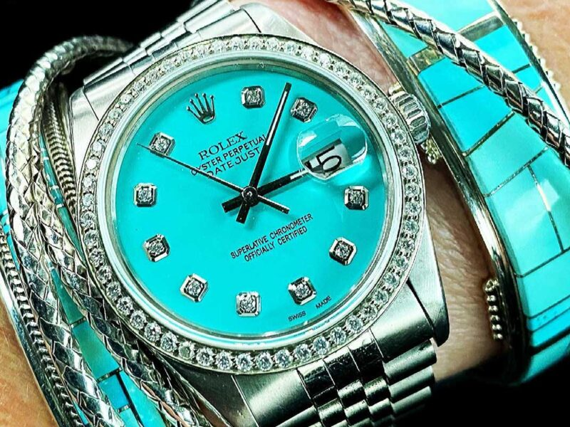 turquoise Rolex watch cowgirl magazine