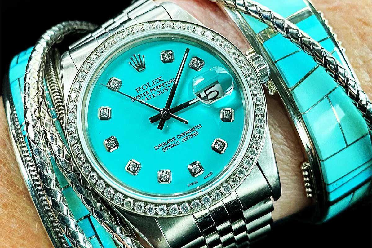 turquoise Rolex watch cowgirl magazine