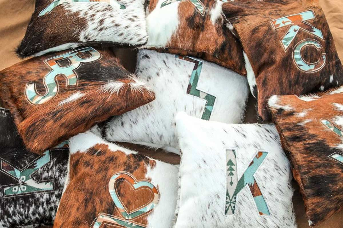 kissin kate custom throw pillow party cowhide throw pillow party cowgirl magazine