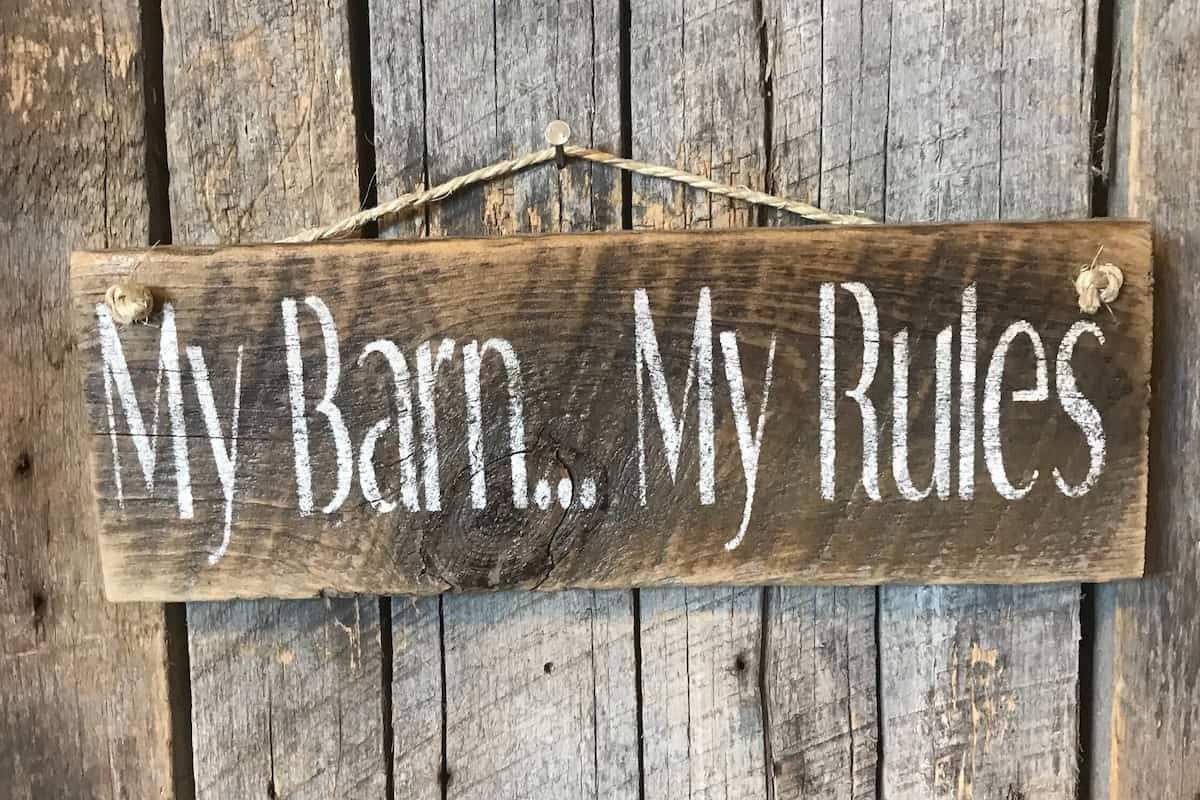 barn rules cowgirl magazine